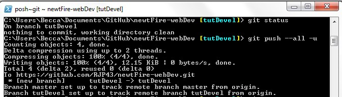 git push local branch to remote