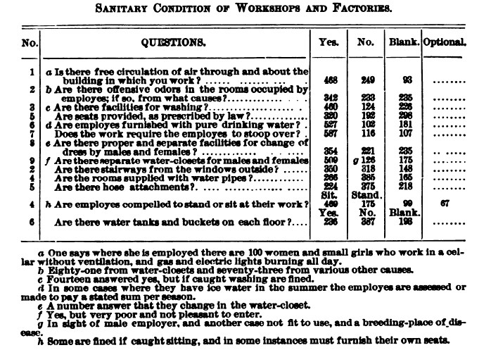 19th-century labor survey from Nell Nelson project